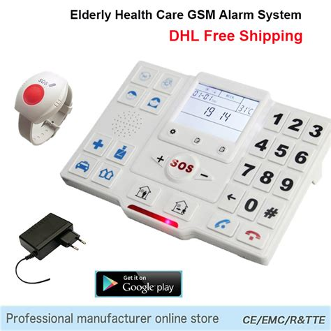 elder alarm wireless gsm sms home security alarm system