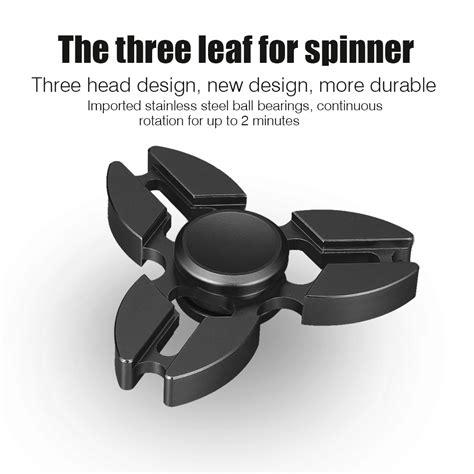 Fitged Spinner Metal Steel fidget spinner metal stainless steel tri genji finger spinner black ebay