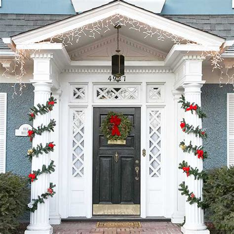 christmas front door decor life and love front door holiday decor