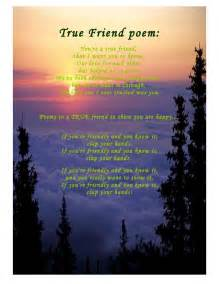 True friend poem you re a true friend that i want you to know our