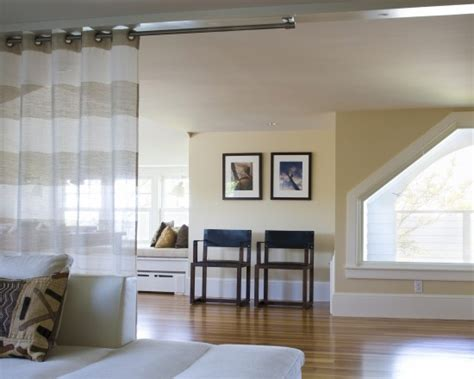hanging curtains from ceiling as room divider hang curtain rod from ceiling for room divider good to