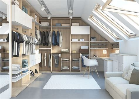 loft conversion walk in wardrobe inspiration on light loft walk in wardrobe solution in acacia wardrobes