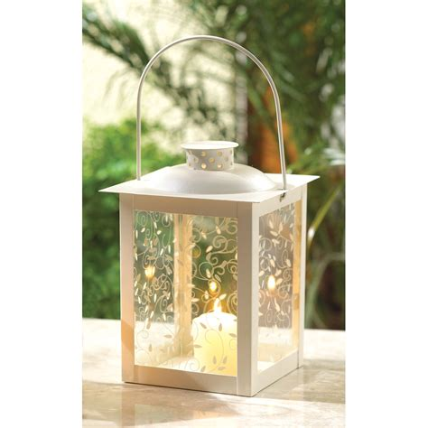 buy wholesale large ivory color glass lantern in bulk