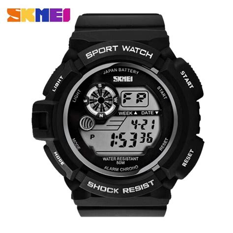 Skmei Sport 0989 Original Water Resistant 50m Black Terbaru Di skmei s shock sport water resistant 50m dg0939 black with white side jakartanotebook
