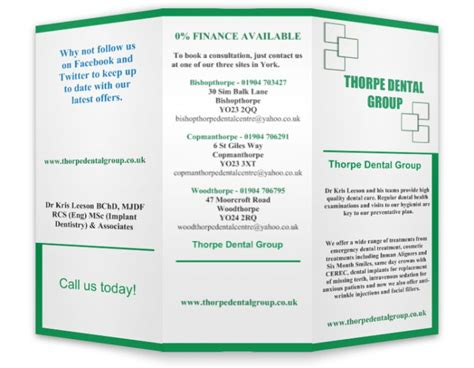 brochures thorpe dental group