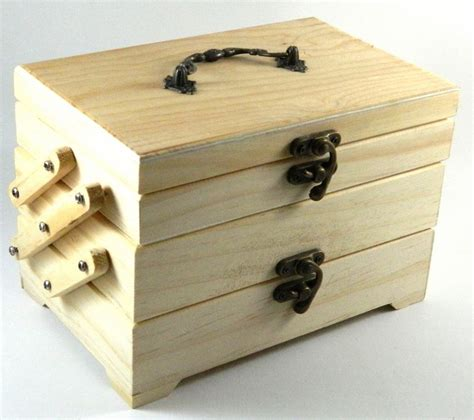 7 quot design your own wood box diy unfinished trinket sewing