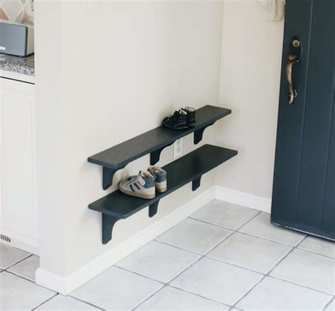 diy shoe rack by front door diy shoe rack for small entryway wooden shelves for hallway