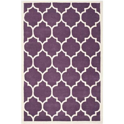 purple contemporary rugs safavieh chatham purple contemporary rug 5 x 8 cht733f 5