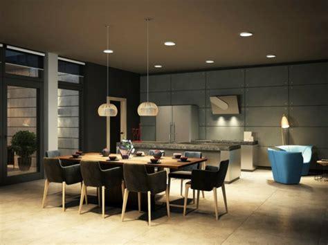 Délicieux Suspension Pour Salle A Manger #3: suspension-de-salle-à-manger-deux-lamps-pendantes-au-dessus-dune-table.jpg