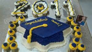 blue and gold graduation decorations graduation blue and gold cake cakes i ve done
