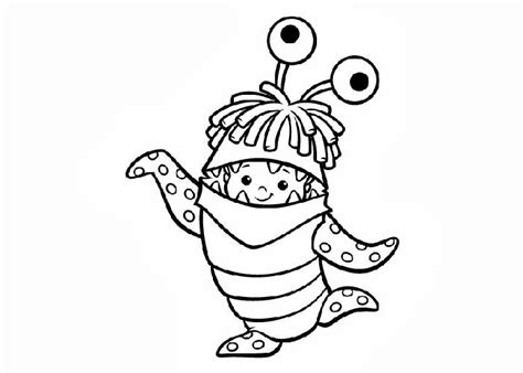 Boo Monsters Inc Coloring Pages monsters inc boo coloring pages free coloring pages and