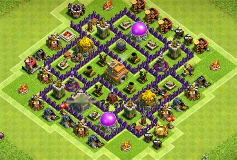 layout design coc th 7 10 best th7 base town hall 7 layouts coc top hybrid