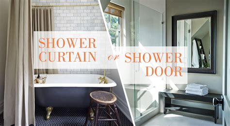 Shower Curtain Or Shower Door Kitchen Bath Trends Shower Door Vs Shower Curtain