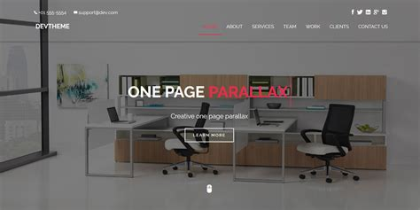 devtheme one page parallax html template business html