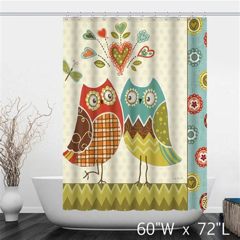 owl shower curtain owl lover comics bathroom shower curtain custom shower curtain store
