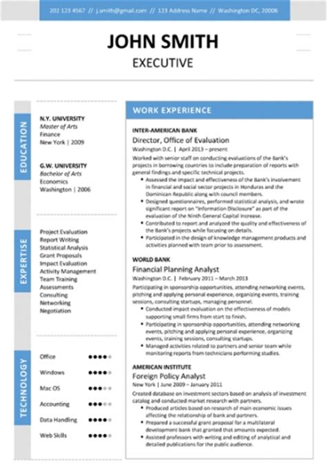 executive resume templates word 6 executive resume templates word website
