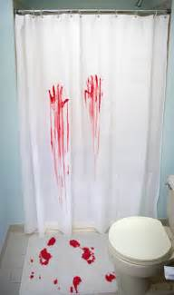 horror shower curtain bath home office thinkgeek