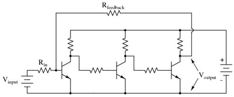 transistor lifier circuits with negative current feedback op configurations summing lifier circuit schematic with explanation electronic circuit