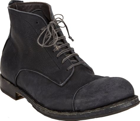 shoto mens boots shoto washed captoe ankle boots in black for lyst