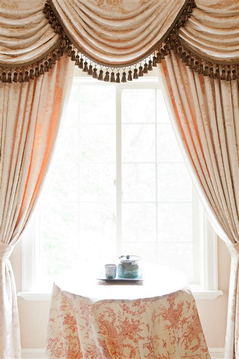 curtains with swag valance peony pavillion swags and tails valance curtain drapes