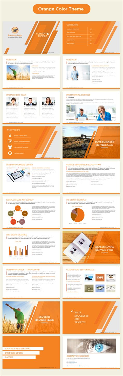 themes for corporate presentation company profile powerpoint template 350 master slide