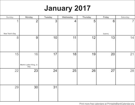 printable calendar jan 2017 january 2017 printable blank calendar printable blank