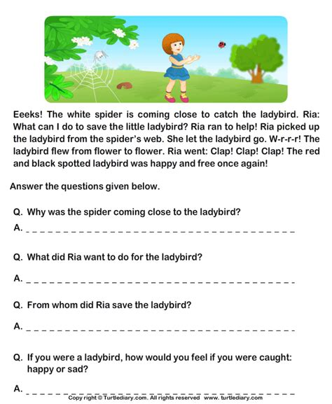 Reading Comprehension Worksheets Grade 2 by Printables Free Comprehension Worksheets For Grade 2