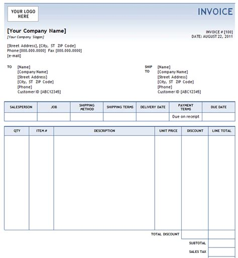 sales invoice templates sales invoice template 10
