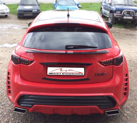 infiniti fx35 fx37 fx50 qx70 rear bumper bar grilled guard maxicustoms premium bodykit for infiniti fx30d fx35 fx37 fx50 qx70