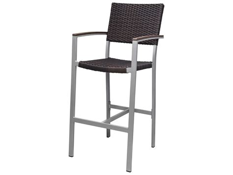 source outdoor patio furniture source outdoor furniture fiji wicker bar arm chair sc 2201 173