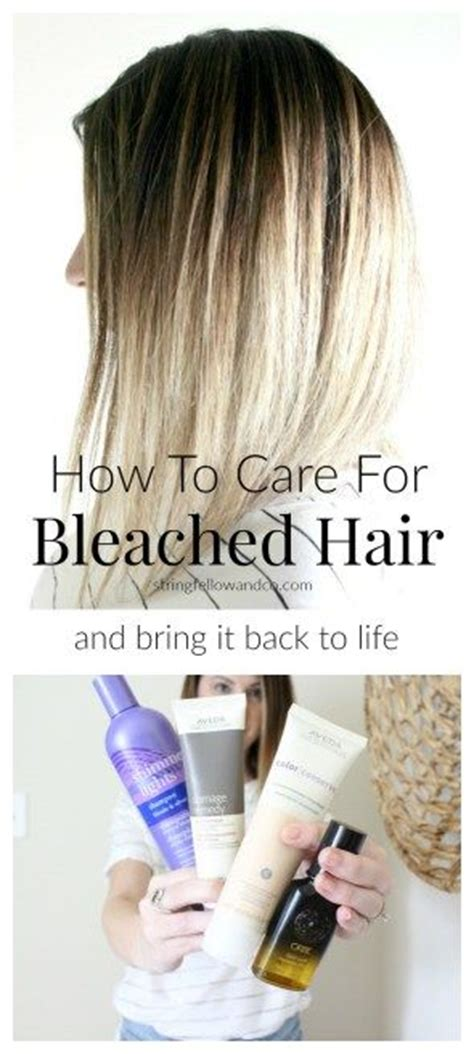 treatment for bleached hair how to care for bleached hair hair ideas pinterest