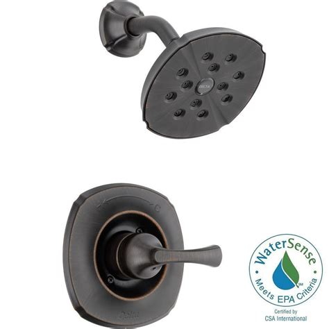Delta Shower Faucets With Sprays by Delta 1 Handle 1 Spray Shower Faucet Trim Kit Only In Venetian Bronze Featuring