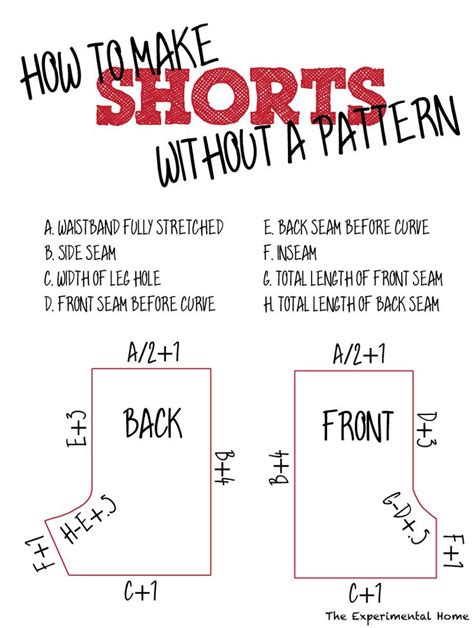 pattern making how to make a pattern from existing shorts without taking them