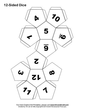 Make Your Own Dice In This Easy Diy Art Craft Project For Kids Several Printable Paper Dice Make Your Own Dice Template