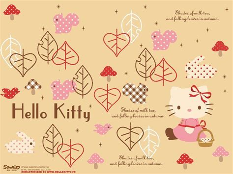 Hello Kitty Autumn Wallpaper | hello kitty fall wallpapers wallpaper cave