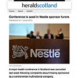 Sponsorship Letter To Nestle Nestl 233 Sponsored Conference Cancelled Following Complaints Baby Milk