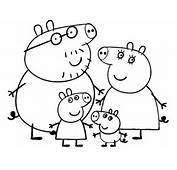 Stampa Disegno Di Peppa Pig Family Da Colorare