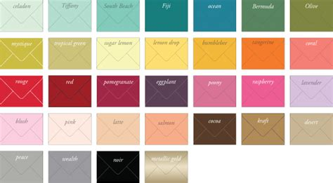 color envelopes personalize your wedding stationery lucky luxe couture