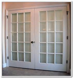 French Doors Exterior With Built In Blinds Photos