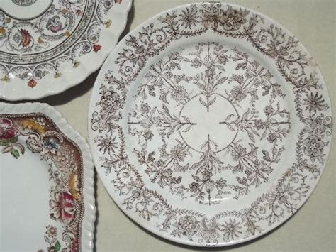 vintage china patterns antique vintage brown transferware china plates lot