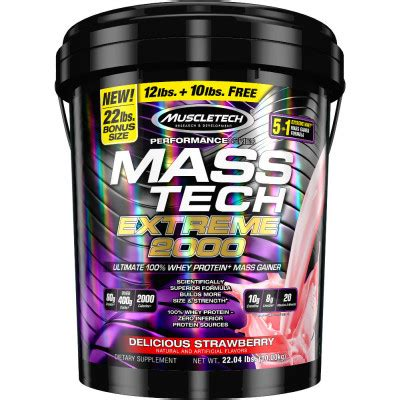 Promo Muscletech Mass Tech 2000 22lbs Gainer mass tech 2000 by muscletech lowest prices at