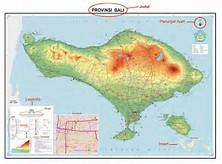 Gambar Peta Pulau Bali