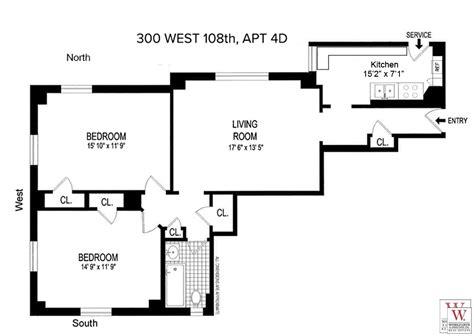 1 of 9 floor plan 3d 545 west 110th streeteasy 300 west 108th in west side 4d
