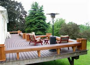 make the deck planters be the blend with your deck