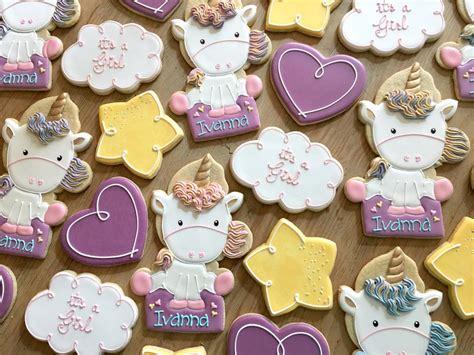 Baby Shower Unicorn Cookies   Cookie Connection