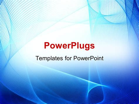 powerpoint template abstract blue curves on white