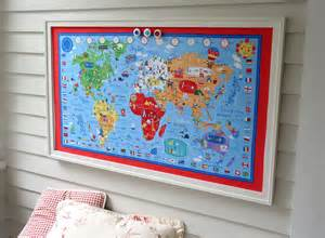 world map bulletin board magnetic memo board with