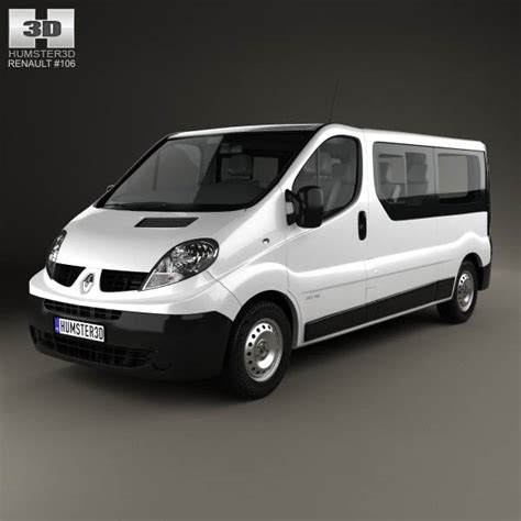 15 Passenger Models by Renault Trafic Passenger Lwb 2010 3d Model Hum3d