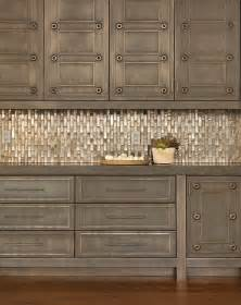Metallic Kitchen Backsplash by Trade Secrets Kitchen Renovations Part Two Countertops
