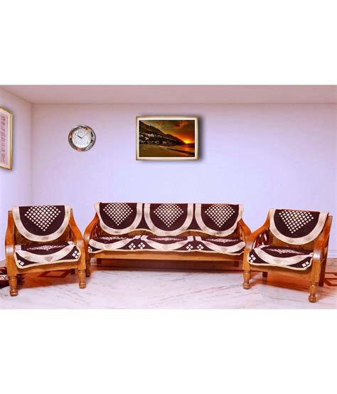 sofa set cover price optimistic home furnishing brown poly cotton others sofa